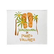 Honeymoon Puerto Vallarta Throw Blanket