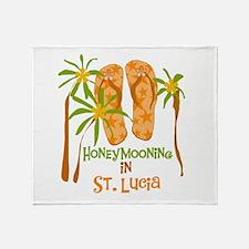 Honeymoon St. Lucia Throw Blanket