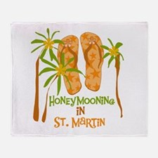 Honeymoon St. Martin Throw Blanket