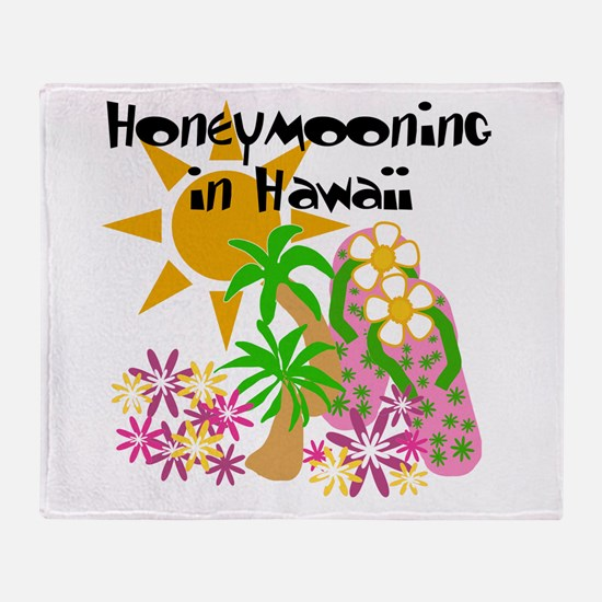 Honeymoon Hawaii Throw Blanket