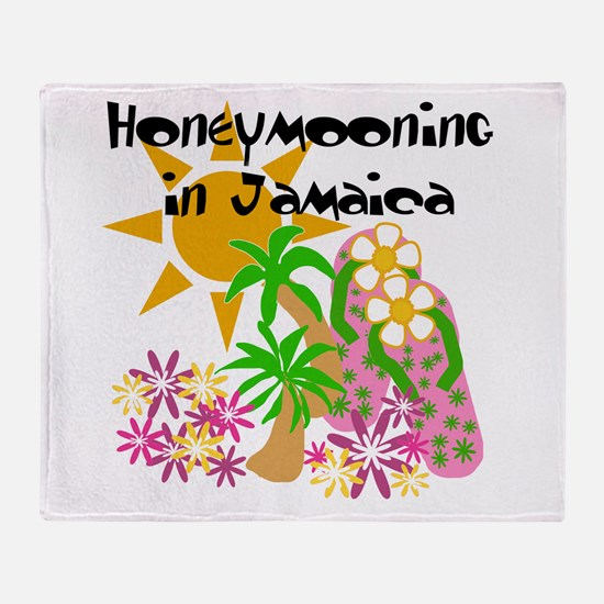 Honeymoon Jamaica Throw Blanket