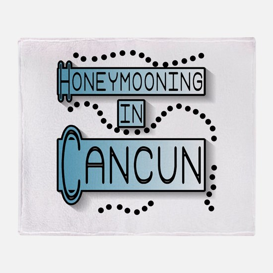 Blue Honeymoon Cancun Throw Blanket