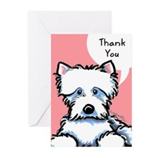 Cute Westie Thank You Greeting Cards (Pk of 10)