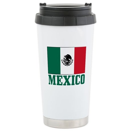Mexico Flag Stainless Steel Travel Mug