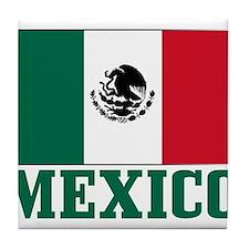 Mexico Flag Tile Coaster