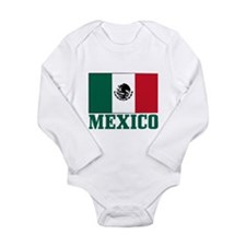 Mexico Flag Long Sleeve Infant Bodysuit