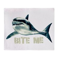 Bite Me Shark Throw Blanket