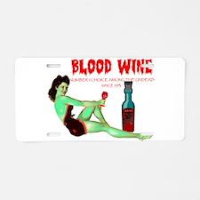 zombie /blood wine Aluminum License Plate