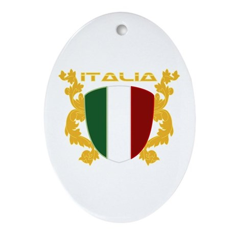 Italia Shield Ornament (Oval)
