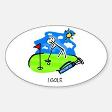 I Golf Vinyl Decal