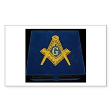 Blue Lodge Rectangle Decal