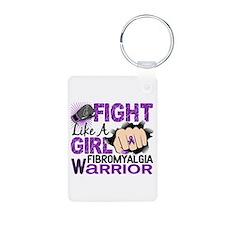Fight Like A Girl Fibromyalgia Aluminum Photo Keyc