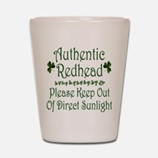 Authentic Redhead Shot Glass