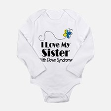 Down Syndrome Sister Long Sleeve Infant Bodysuit