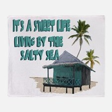 Sweet Life By The Sea Throw Blanket