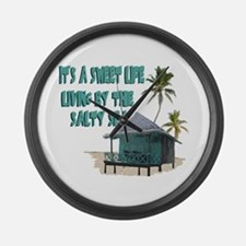 Sweet Life By The Sea Large Wall Clock