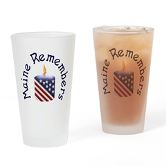 Maine Remembers Pint Glass