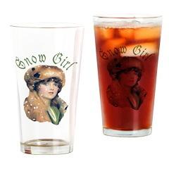 Snow Girl Pint Glass