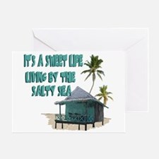 Sweet Life By The Sea Greeting Card