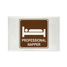 Professional Napper Rectangle Magnet