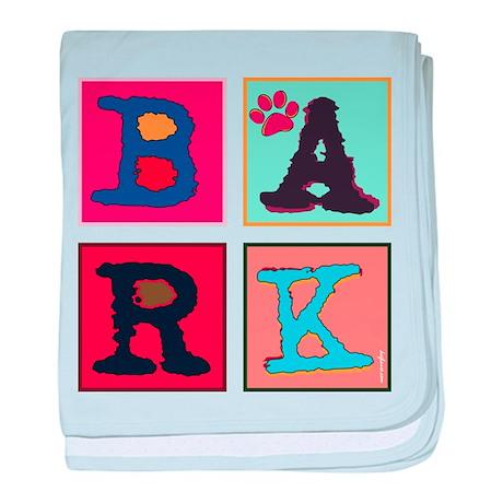 Warhol-Inspired Bark baby blanket