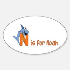 Letter N for Noah's name Oval Decal
