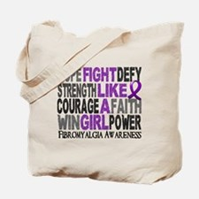 Licensed Fight Like A Girl 23.3 Fibromyal Tote Bag