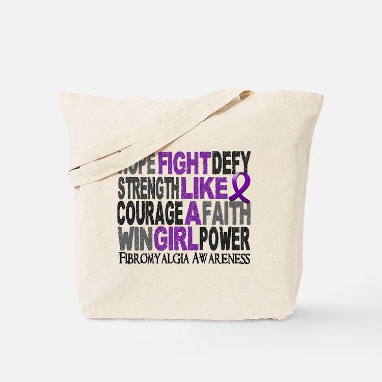 Licensed Fight Like A Girl 23.3 Fibromyal Tote Bag
