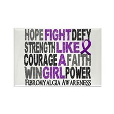 Fight Like A Girl Fibromyalgia Rectangle Magnet