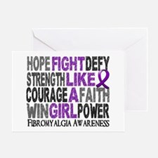 Licensed Fight Like A Girl 23.3 Fibr Greeting Card