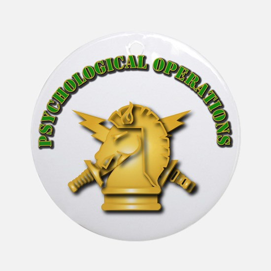 SOF - Psychological Operations Ornament (Round)