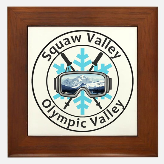 Unique Squaw valley Framed Tile