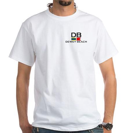 Dewey Beach DE - Nautical Design White T-Shirt