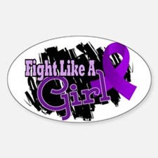 Licensed Fight Like A Girl 17.8 Fib Decal