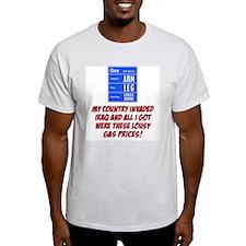 Lousy Gas Prices Ash Grey T-Shirt