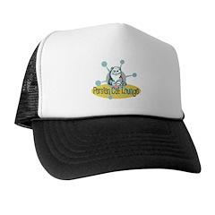 Retro Persian Cat Lounge Trucker Hat