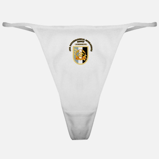 SOF - 4th PsyOps Flash with Text Classic Thong