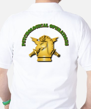 SOF - 4th PsyOps Flash with Text Golf Shirt