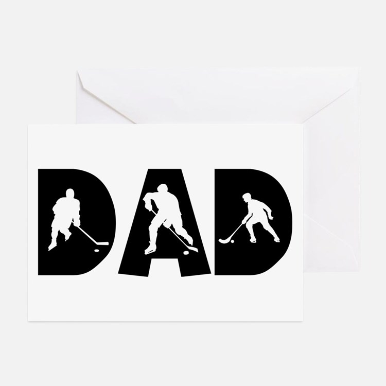 Hockey Dad Greeting Cards (Pk of 10)