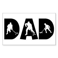 Hockey Dad Rectangle Decal