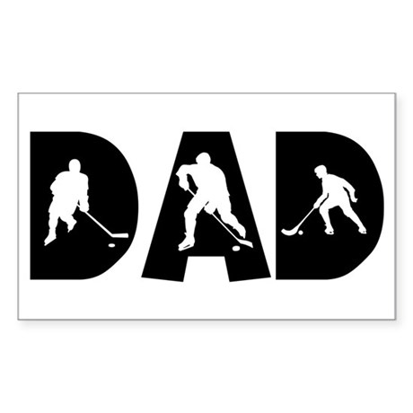 Hockey Dad Rectangle Sticker
