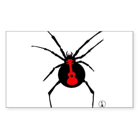 Ukulele Spider Sticker (Rectangle)