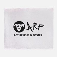 Cute Act rescue foster Throw Blanket