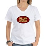 Spellman Cardinals Women's V-Neck T-Shirt