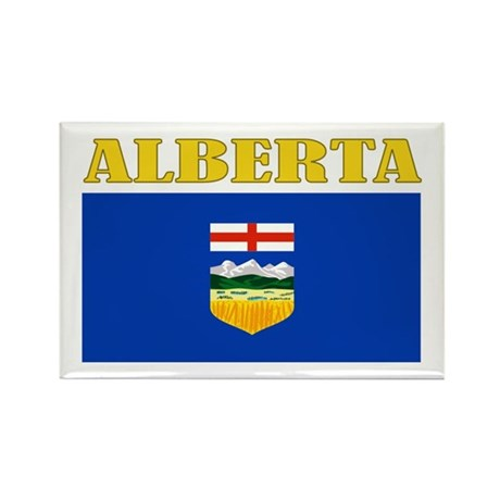 Alberta Flag Rectangle Magnet