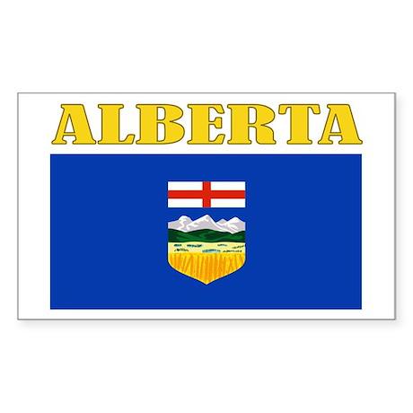 Alberta Flag Sticker (Rectangle)