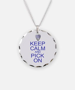 Keep Calm Pick On (Parody) Necklace