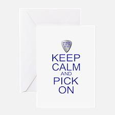 Keep Calm Pick On (Parody) Greeting Card