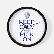 Keep Calm Pick On (Parody) Wall Clock