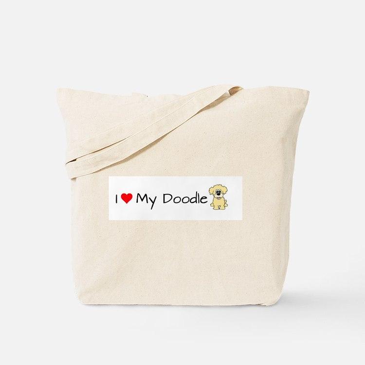 Cute Goldendoodle Tote Bag
